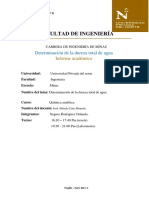 Dureza Total Del Agua- Informe