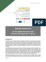 UNCTAD Nairobi Manifesto