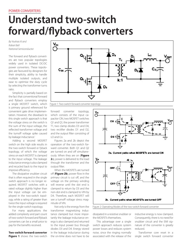 Understand Two-switch Forward_flyback Converters   Mosfet   Transformer