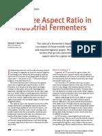 Aspect ratio fro Fermentors