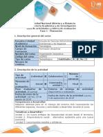 Guía de Actividades y Rúbrica Evaluación Fase 1 - Planeación