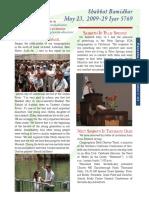 3. Bamidbar (23 Mai 2009)