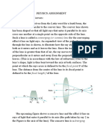 Image formation in lenses.