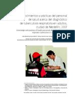 Conocimientos y prácticas del personal de salud acerca de la tuberculosis pulmonar