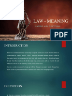 Law - Meaning Nature Functions (1)
