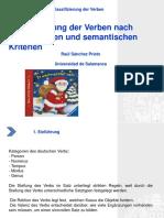 1. Klassifizierung Der Verben Nach Syntaktischen Und Semantischen Kriterien