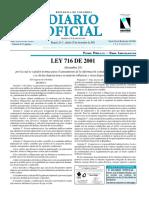 Diario-Ley 716 a 721 de 2001