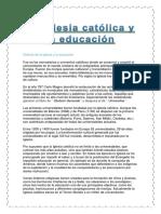 La Iglesia católica y la educación.docx