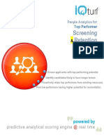 People Analytics - Top Performer Screening Intelligence