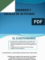 Cuestionarios y Escalas de Actitudes