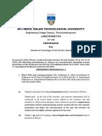 B.tech Ordinance Amendments II