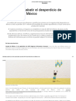 La Lucha Por Abatir El Desperdicio de Alimentos en México
