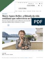 Obituário de Agnes Heller em EL PAÍS