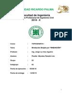 Informe 3, Topografía-I Universidad Ricardo Palma URP