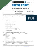 Kvpy 11 Paper Solution