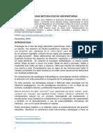 Estrategias Metodologicas Universitarias. Montúfar Salcedo, Carlos Efraín