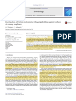 Investigation of Friction Mechanisms in Finger Pad Sliding Against Surfaces