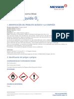 17. Hoja de Seguridad Msds Oxígeno Líquido