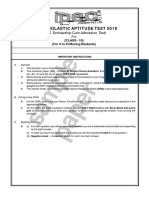Sample Paper for 10 to 11