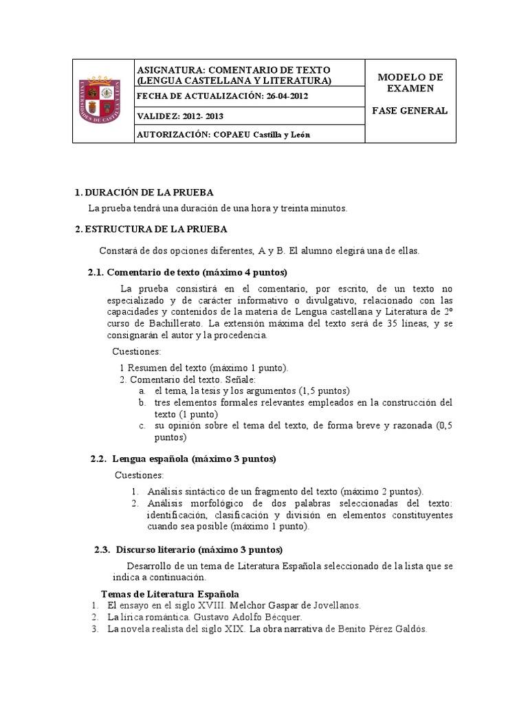 Modelo Examen Y Criterios Paeu