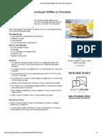 Classic Sourdough Waffles or Pancakes- King Arthur Flour