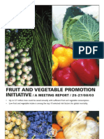 Fruit and Vegetable Report