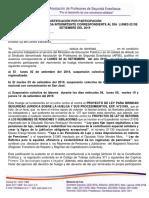 Justificación Por Participación en Huelga Intermitente 02 de Setiembre 2019
