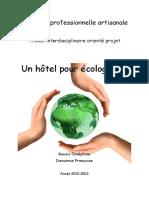 Un hôtel pour écologiste
