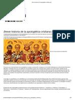 Breve Historia de La Apologética Cristiana (I)