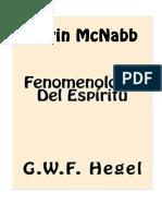 Darin McNabb-Hegel. Fenomenología Del Espíritu