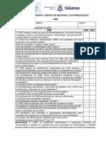 Inspeção Mensal Centro de Material e Esterilização CME