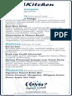 TrendKitchen menu