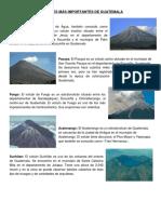 Volcanes y Montañas Mas Importantes de Guatemala