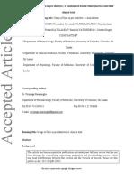 Zinc supplementation in pre-diabetes
