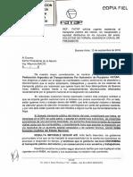 2019-09-16 Nota a Presidencia- FATAP Solicita Urgente Asistencia Al Transporte y Audiencia