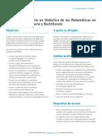 M O Didactica Matematicas Secundaria Bachillerato Esp