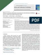 Tratamiento Eficiente de Las Aguas Residuales Domésticas Mediante Un Proceso de Oxidación Electroquímica Utilizando Ánodo de Diamante Dopado Perforado