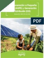 Autogeneracion a Pequena Escala-AGPE-y Generacion Distribuida-GD