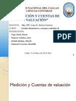 Medición y Cuentas de Valuación