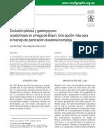 Tecnica Quirurgica en Perforacion Duodenal-exclusion Pilorica y en Omega