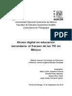 Atraso Digital en Educación Secundaria_ El Fracaso de Las TIC en México