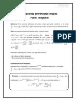 Ecuaciones Diferenciales Lineales -Factor Integrante