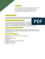 Conceptos de Canales de Distribución Para El Examen