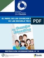 Instruccion Vice Consejos Educativos en Las Escuelas Tecnicas Def