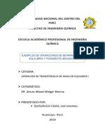 Ejemplos de Operaciones de Separacion en Equilibrio y Puramente Mecanico Quisuruco Casas Joel Jeremias