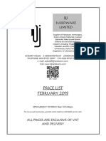 Material price list