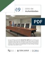SCJ - Lista de Autoridades y Juzgados 2019 Agosto