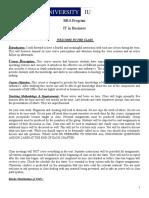 IT in Business Standardization Week-Wise