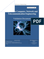 Diploma in Computer, Network and Telecommunication Engineering - Validation Document - (July 2012)