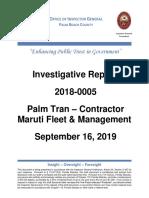 OIG Investigation 2018-0005